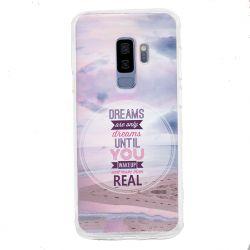 Funda de Silicona de Dibujo Playa y Frase para Samsung Galaxy S9 Plus