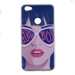 Funda Silicona Dibujo Mujer con gafas para Xiaomi Redmi Note 5A Prime