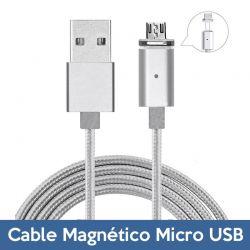 Cable de Carga y Datos Micro USB Magnético y Reversible 2A con LED