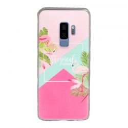 Funda de Silicona con flamenco Tropical Summer Samsung Galaxy S9 Plus