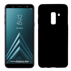Funda TPU Mate Lisa Samsung Galaxy A6 Plus Silicona Flexible Negro