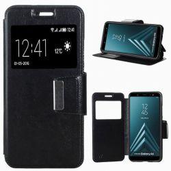 Funda libro con Tapa, Ventana y Soporte - Samsung Galaxy A6 Negro