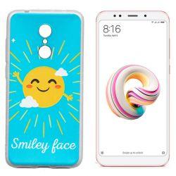Funda de Silicona con dibujo de Sol Smiley Face para Xiaomi Redmi 5