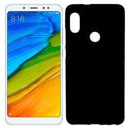 Funda de Silicona Mate para Xiaomi Redmi Note 5 / Note 5 Pro Negro