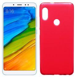 Funda de TPU Mate Lisa para Xiaomi Redmi Note 5 Pro Silicona Rojo