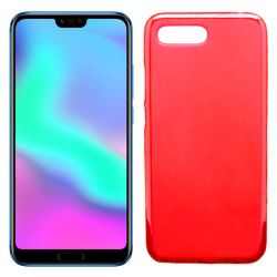 Funda flexible de Silicona Mate Lisa para Honor 10 color Rojo