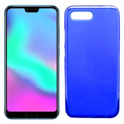 Funda flexible de Silicona Mate Lisa para Honor 10 color Azul