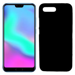 Funda flexible de Silicona Mate Lisa para Honor 10 color Negro