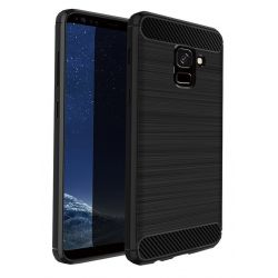 Funda TPU Forcell Carbon tipo fibra de carbono - Samsung Galaxy A6