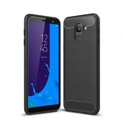 Funda TPU Forcell Carbon tipo fibra de carbono Samsung Galaxy J6 2018