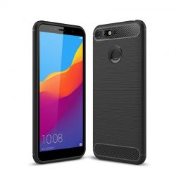 Funda de silicona Forcell Carbon para Huawei Y6 2018 / Honor 7A