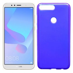 Funda de TPU Mate Lisa para Huawei Y6 2018 / Honor 7A Silicona Azul