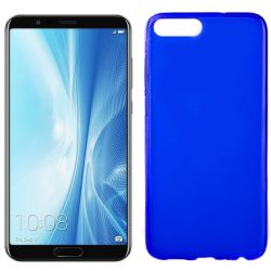 Funda flexible Silicona Mate Lisa para Honor 10 View / V10 color Azul