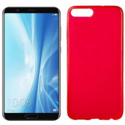 Funda flexible Silicona Mate Lisa para Honor 10 View / V10 color Rojo