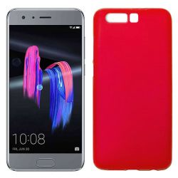 Funda de Silicona Mate Lisa para Honor 9 color Rojo