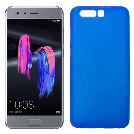 Funda de Silicona Mate Lisa para Honor 9 color Azul