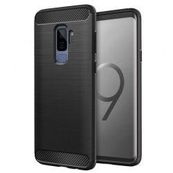 Funda TPU Forcell Carbon tipo fibra de carbono, Samsung Galaxy S9 Plus