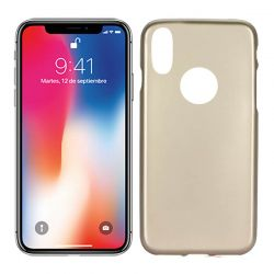 Funda Trasera de Silicona Jelly Flash para iPhone X Dorado