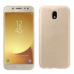 Funda Trasera Silicona Jelly Flash para Samsung Galaxy J5 2017 Dorado