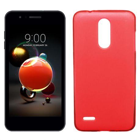 Funda de TPU Mate Lisa para LG K9 Silicona Flexible Rojo