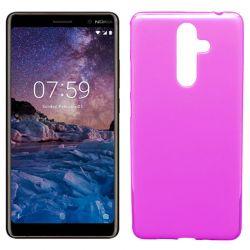 Funda de TPU Mate Lisa para Nokia 7 Plus Silicona Rosa