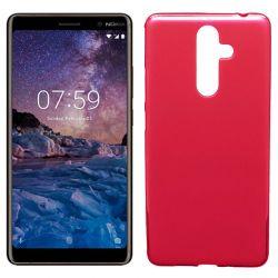 Funda de TPU Mate Lisa para Nokia 7 Plus Silicona Rojo