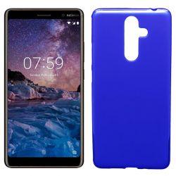 Funda de TPU Mate Lisa para Nokia 7 Plus Silicona Azul