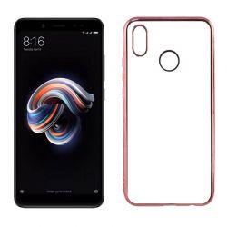 Funda TPU Borde Metalizado Oro Rosa - Xiaomi Redmi Note 5 / Note 5 Pro