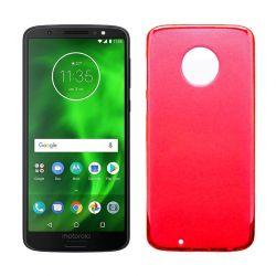 Funda de TPU Mate Lisa para Motorola Moto G6 Silicona Flexible Rojo