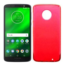 Funda TPU Mate Lisa para Motorola Moto G6 Plus Silicona Flexible Rojo