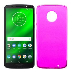 Funda TPU Mate Lisa para Motorola Moto G6 Plus Silicona Flexible Rosa