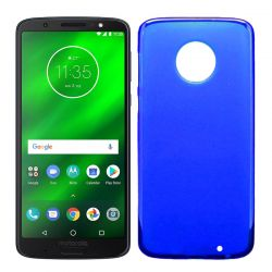 Funda TPU Mate Lisa para Motorola Moto G6 Plus Silicona Flexible Azul