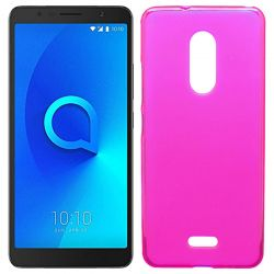 Funda de TPU Mate Lisa para Alcatel 3C Silicona flexible Rosa