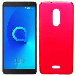 Funda de TPU Mate Lisa para Alcatel 3C Silicona flexible Rojo