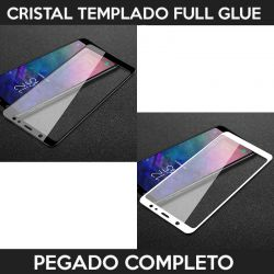 Protector pantalla adhesivo y pegado completo para Samsung Galaxy A6 Plus 2018