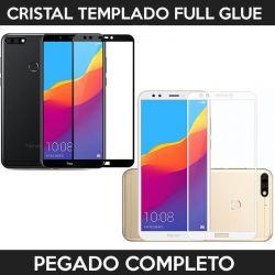 Protector pantalla con adhesivo y pegado completo - Huawei Y7 2018 / Honor 7C