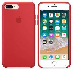 Funda de Silicona suave con logo para Apple iPhone 7 Plus / 8 Plus Rojo