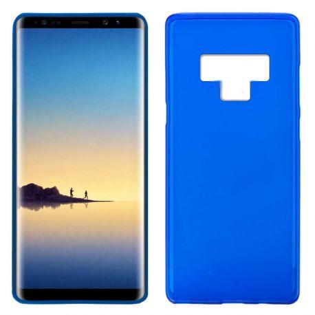 Funda de Silicona Mate y Lisa para Samsung Galaxy Note 9 Azul