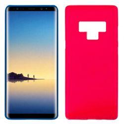 Funda de Silicona Mate y Lisa para Samsung Galaxy Note 9 Rojo