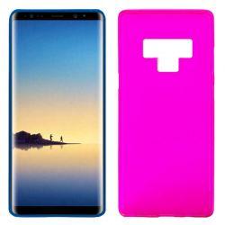 Funda de Silicona Mate y Lisa para Samsung Galaxy Note 9 Rosa