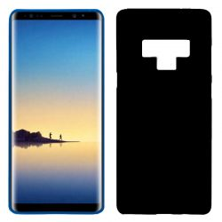 Funda de Silicona Mate y Lisa para Samsung Galaxy Note 9 Negro