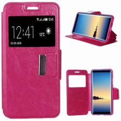 Funda libro con tapa, ventana y soporte - Samsung Galaxy Note 9 Rosa