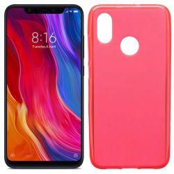 Funda de TPU Mate Lisa para Xiaomi Mi8 Silicona Flexible Rojo
