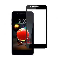 Protector de pantalla de Cristal Templado Full Glue para LG K9 Negro