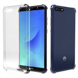 Funda de Silicona Transparente Antigolpe - Huawei Y6 2018 / Honor 7A