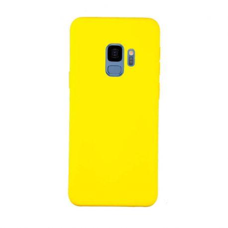 e2fc3245914 Funda de Silicona tacto suave para Samsung Galaxy S9 Amarillo