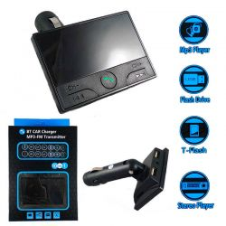 Transmisor FM, reproductor Mp3 y cargador de coche color Negro