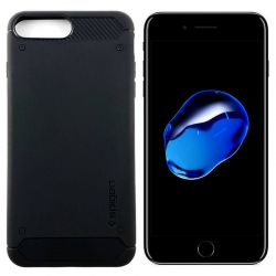Funda tipo Rugged Armor para iPhone 7 Plus / 8 Plus Azul Medianoche