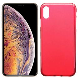 Funda de TPU Mate Lisa para iPhone Xs Max Silicona Rojo