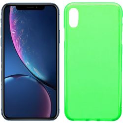 Funda de TPU Mate Lisa para iPhone Xr Silicona Verde